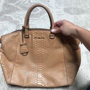 Michael Kors Faux Skin Handle Bag